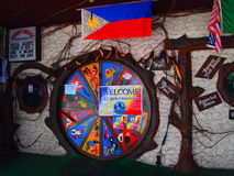 Hobbit-Haus-Eingang in Manila Lizenzfreie Stockbilder