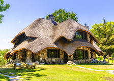 Hobbit home. Charlevoix, Michigan, August 8, 2016: one of the unique `hobbit homes` that serve as a local attraction in Charlevoix, MI Royalty Free Stock Image