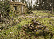 Hobbit Home in the woods at Burnby Gardens Stock Photos