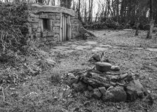 Hobbit Home in the woods Royalty Free Stock Images