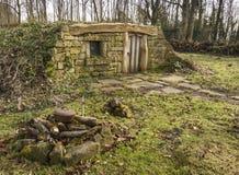 Hobbit Home in the woods Stock Image