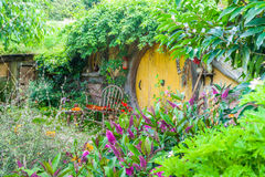 Hobbit movie site. Hobbiton, movie site for Hollywoob blockbusters Lodr of The Ring and Hobbit. Matamata, New Zealand stock images