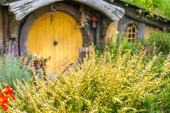 Hobbit movie site. Hobbiton, movie site for Hollywood blockbusters Lord of The Ring and Hobbit. Matamata, New Zealand stock photos