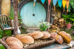 Hobbit movie site. Hobbiton, movie site for Hollywood blockbusters Lord of The Ring and Hobbit. Matamata, New Zealand royalty free stock photo