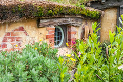 Hobbit movie site. Hobbiton, movie site for Hollywood blockbusters Lord of The Ring and Hobbit. Matamata, New Zealand royalty free stock images