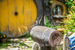 Hobbit movie site. Hobbiton, movie site for Hollywood blockbusters Lord of The Ring and Hobbit. Matamata, New Zealand stock image