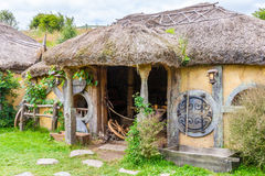 Hobbit movie site. Hobbiton, movie site for Hollywood blockbusters Lord of The Ring and Hobbit. Matamata, New Zealand stock photography