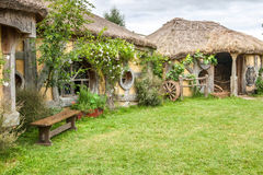Hobbit movie site. Hobbiton, movie site for Hollywood blockbusters Lord of The Ring and Hobbit. Matamata, New Zealand royalty free stock photos