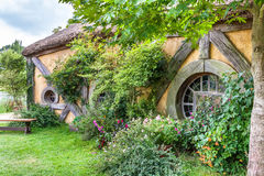 Hobbit movie site. Hobbiton, movie site for Hollywood blockbusters Lord of The Ring and Hobbit. Matamata, New Zealand stock photo