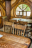 Hobbit movie site. Hobbiton, movie site for Hollywood blockbusters Lord of The Ring and Hobbit. Matamata, New Zealand royalty free stock image