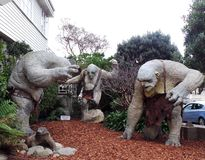 The Hobbit's Three Trolls, Weta Cave, New Zealand Stock Photo
