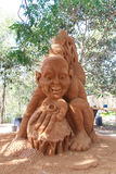 The hobbit sand sculptor. Second place on the recent Hawkesbury International Sand Sculpting Championship Royalty Free Stock Photo