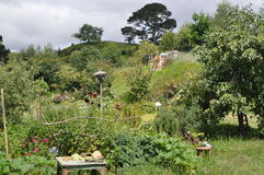 Hobbit village and garden Royalty Free Stock Image