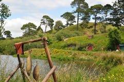 Hobbit village and garden Stock Images