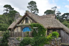 Hobbit village mill Royalty Free Stock Photo