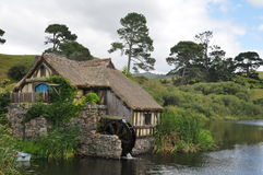 Hobbit village mill Stock Photography