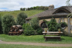 Hobbit village pub Royalty Free Stock Image