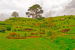 Hobbiton do filme o Hobbit Foto de Stock Royalty Free