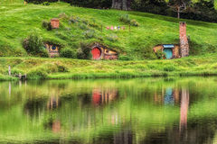 Hobbiton movie set Royalty Free Stock Images