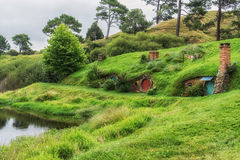 Hobbiton movie set Royalty Free Stock Image