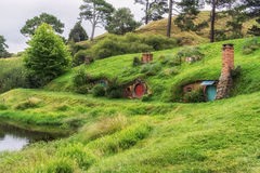 Hobbiton movie set Stock Photo