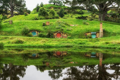 Hobbiton movie set Stock Images