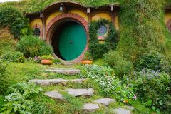 Hobbiton Movie Set Stock Image