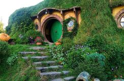 Hobbiton Movie Set, New Zealand Stock Image