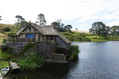 Hobbiton NZ Royalty Free Stock Images