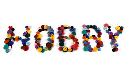 Hobby. Text Hobby laid out with colorful buttons Stock Photos