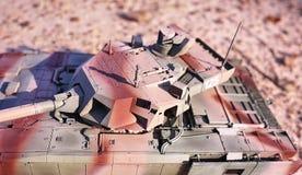 Hobby - Assemblage van verminderde exemplaren van echte gevechtstanks Dergelijke modellen zijn zeer populair en vele ventilators  stock foto's