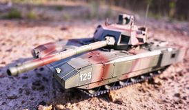 Hobby - Assembly of reduced copies of real battle tanks. Such models are very popular and many fans collect dozens of models at ho. Hobby - Assembly of reduced stock photography