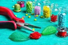 Hobby crafts of beads. Stock Photos