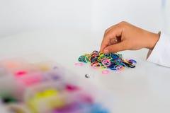 Hobby dei braccialetti della banda di Ruber Fotografia Stock