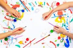 Hobby del disegno e della pittura Immagine Stock Libera da Diritti