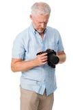 Hobby dell'uomo della macchina fotografica Fotografia Stock Libera da Diritti
