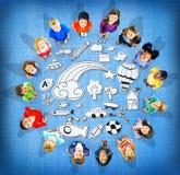 Hobby-Fantasie-Spaß-Kreativitäts-Tätigkeits-Inspirations-Konzept Stockfoto