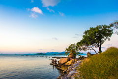 Hobby fishing in the evening on sunset. Of Koh Samui Stock Photo