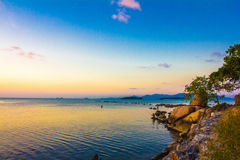 Hobby fishing in the evening on sunset. Of Koh Samui Royalty Free Stock Images