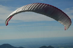 Hobby. Flying in the mountains of south germany with a great blue sky Royalty Free Stock Photo
