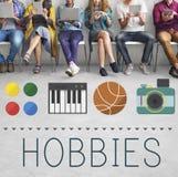 Hobby-Freizeit-Lebensstil-Zeitvertreib-Spaß-Konzept lizenzfreie stockbilder
