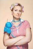 Hobby. Homemaker knitter Fotografering för Bildbyråer