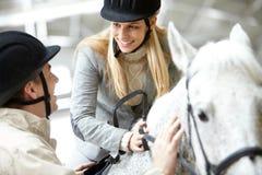 Hobby of horseback riding Stock Photo
