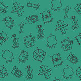 Hobby icon pattern Royalty Free Stock Photos