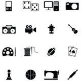 Hobby icon set. The hobby of icon set royalty free illustration