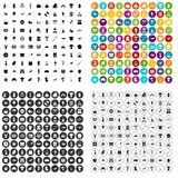 100 hobby icons set variant. 100 hobby icons set in 4 variant for any web design isolated on white Royalty Free Illustration