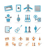 Hobby, Leisure and Holiday objects. Vector Illustration Royalty Free Stock Photos