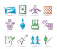 Hobby, Leisure and Holiday objects. Vector Illustration Royalty Free Stock Photo