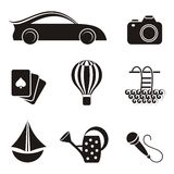 Hobby and leisure icons Stock Images