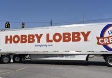 Hobby Lobby Cargo Truck. Hobby Lobby sells arts and crafts, custom framing, home decor stock images